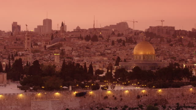 jerusalem at sunset - judaism stock videos & royalty-free footage
