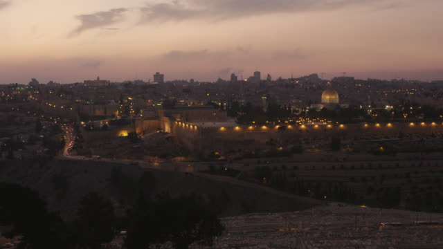 jerusalem at sunset - terrorismus stock-videos und b-roll-filmmaterial