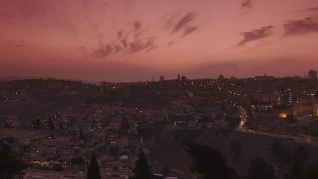 jerusalem at sunset - jerusalem stock-videos und b-roll-filmmaterial