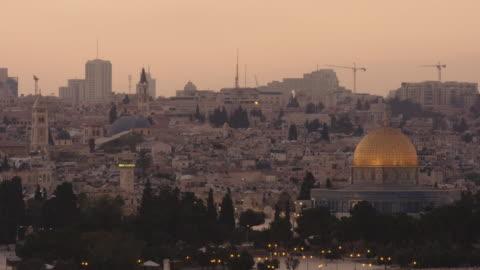 jerusalem at sunset - パレスチナ文化点の映像素材/bロール