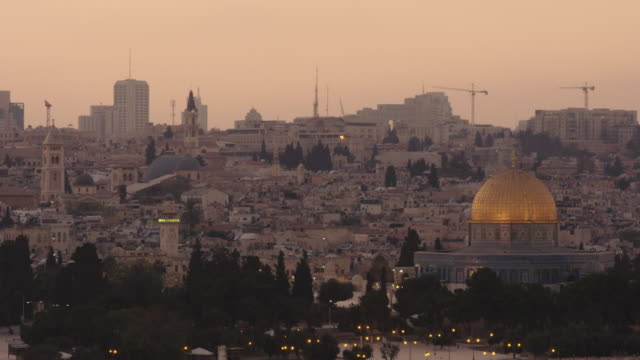 jerusalem at sunset - palestinian stock videos & royalty-free footage