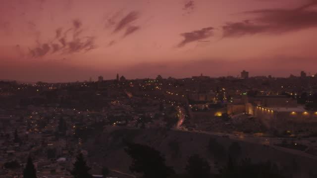 jerusalem at sunset - terrorismus stock-videos und b-roll-filmmaterial