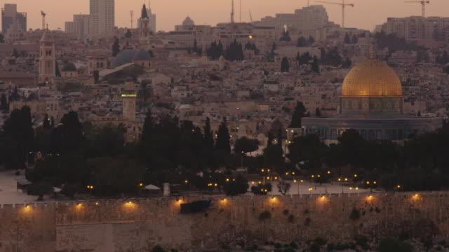 jerusalem at sunset - jerusalem stock videos & royalty-free footage