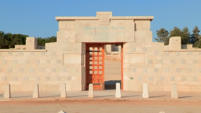 jerusalem british war cemetery - memorial event stock videos & royalty-free footage