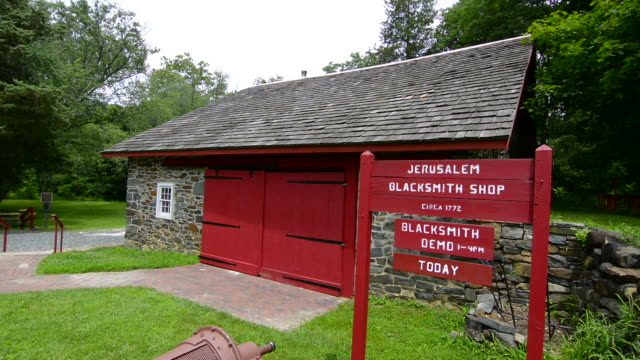 Jerusalem Mill Village Maryland old colonial town Blacksmith Shop 1772 tourist