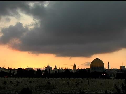 jerusalem sky timelapse - jerusalem stock videos and b-roll footage