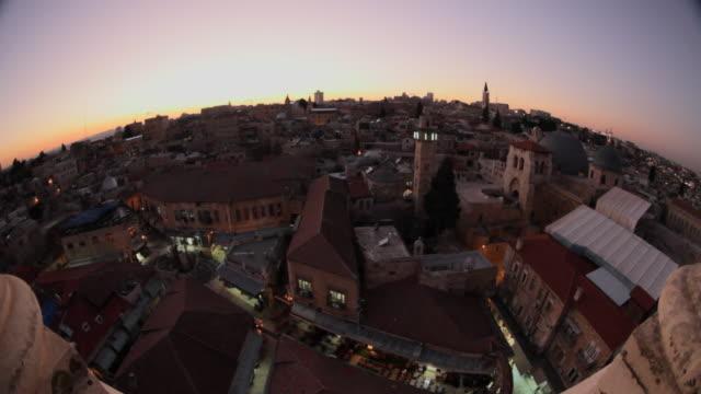 Jerusalem sunset - landscape old city
