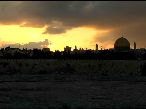 Jerusalem Sonnenuntergang Timelapse