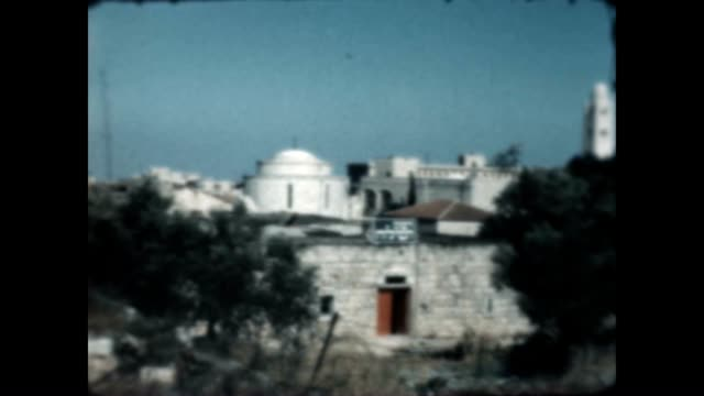 Jerusalem views just after the war of 1948 / The YMCA minaret is clearly visible