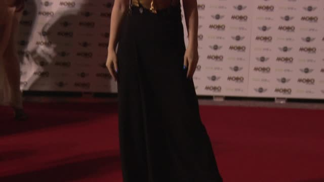 jess glynne at mobo awards 2014 at wembley arena on october 22, 2014 in london, england. - wembley arena stock videos & royalty-free footage