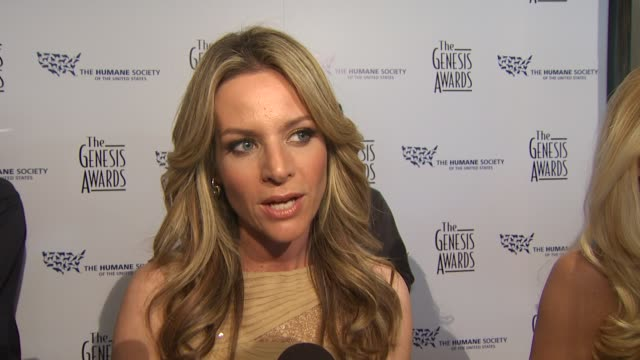 jessalyn gilsig on the event, paying tribute to her dog at the 24th genesis awards at beverly hills ca. - tribute event stock videos & royalty-free footage
