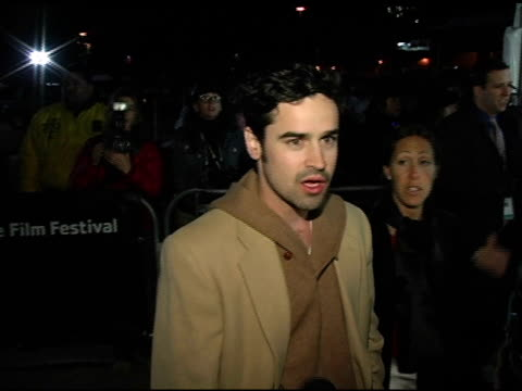 jesse bradford at the 2005 sundance film festival 'happy endings' opening night premiere at the eccles theatre in park city, utah on january 20, 2005. - park city utah video stock e b–roll