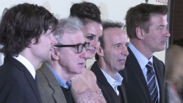 jesse eisenberg woody allen penelope cruz alec baldwin and roberto benigni at the to rome with love world premiere in rome italy on april 13 2012... - alec baldwin stock videos and b-roll footage