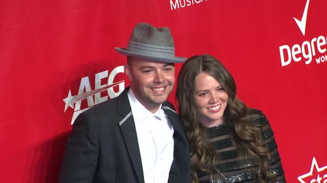 jesse huerta and joy huerta at 2014 musicares person of the year honoring carole king at los angeles convention center on in los angeles california - musicares foundation stock videos & royalty-free footage