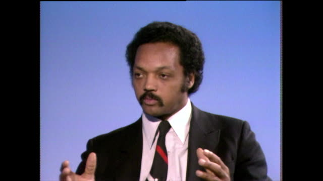 jesse jackson explains how his christian faith has influenced his life and his morals 1982 - shirt and tie stock videos & royalty-free footage