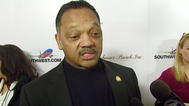 Jesse Jackson Importance of events like this to black community and how they are coming up in the arts as well as in politics what he thinks of the...