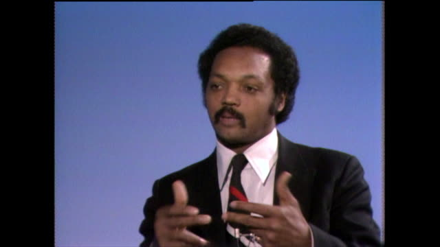 jesse jackson on choosing causes to fight for and righting wrongs where he sees them 1982 - shirt and tie stock videos & royalty-free footage