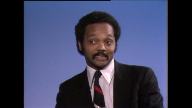 jesse jackson on fighting to live in a better world 1982 - shirt and tie stock videos & royalty-free footage
