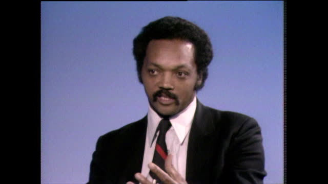 jesse jackson on his religious faith when tested by differing political and social struggles he refers to learning about 'doing his best' from the... - shirt and tie stock videos & royalty-free footage