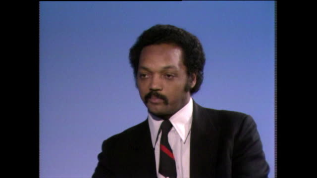 jesse jackson on how the financial and economic power of black people in the usa is undervalued and not recognized in the usa 1982 - shirt and tie stock videos & royalty-free footage