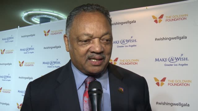 interview jesse jackson on the event at 4th annual wishing well winter gala presented by makeawish greater los angeles in los angeles ca - wishing well stock videos & royalty-free footage