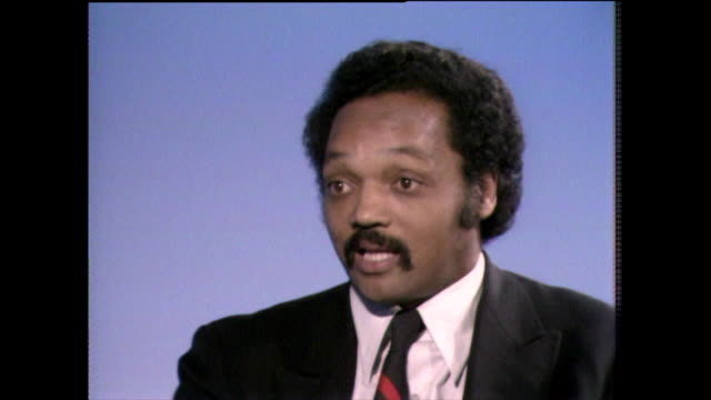 jesse jackson responds to critics who call him a public relations man and being discredited 1982 - shirt and tie stock videos & royalty-free footage