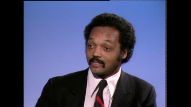 jesse jackson soundbite on the voting power of black americans in 1982 i'm impressed by the fact that hands that picked cotton in 1962 can pick... - shirt and tie stock videos & royalty-free footage