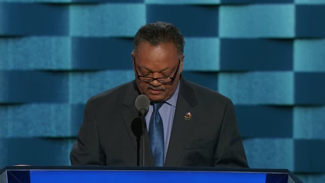 Jesse Jackson speaks at the 2016 Democratic National Convention telling delegates that love must trump fear hate and violence Jackson says that...