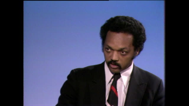 jesse jackson talks about how corporate america has 'locked out' black people and what that means in terms of missed opportunities and positive... - shirt and tie stock videos & royalty-free footage