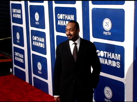 jesse l martin at the ifp's 15th annual gotham awards arrivals at pier 60 at chelsea piers in new york new york on november 30 2005 - chelsea piers stock videos & royalty-free footage