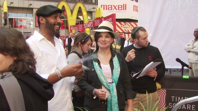 jesse martin and karen duffy at the 13th annual eif revlon run/walk for women at new york ny - revlon stock videos and b-roll footage