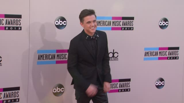 jesse mccartney arrives at the 2013 american music awards arrivals - american music awards stock videos and b-roll footage