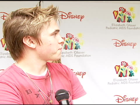 Jesse McCartney on performing at the event at the 'A Time For Heroes' Celebrity Picnic and Carnival to Benefit the Elizabeth Glaser Pediatric AIDS...