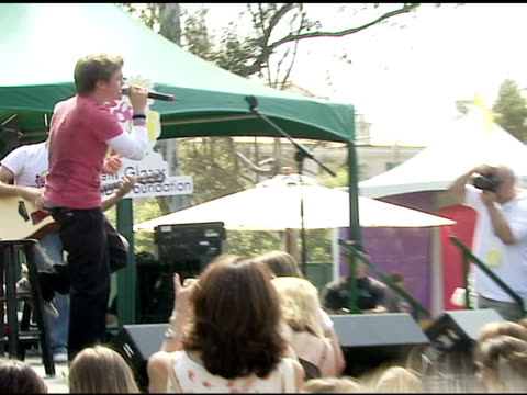 Jesse McCartney performing at the 'A Time For Heroes' Celebrity Picnic and Carnival to Benefit the Elizabeth Glaser Pediatric AIDS Foundation at...