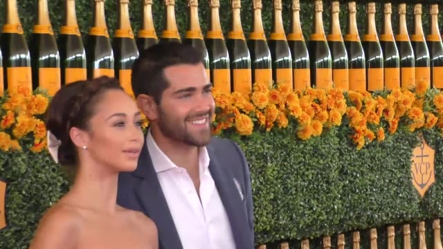Jesse Metcalfe and Cara Santana at the sixth annual Veuve Clicquot Polo Classic at Will Rogers Historic State Park in Pacific Palisades at Celebrity...