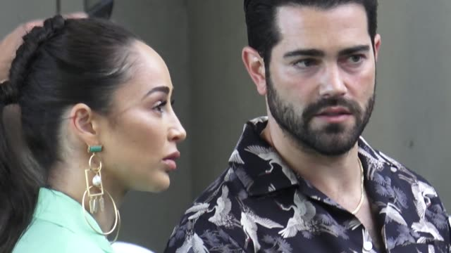 jesse metcalfe cara santana outside the premiere of starz's vida at regal downtown theater in los angeles in celebrity sightings in los angeles - vida no mar stock videos & royalty-free footage