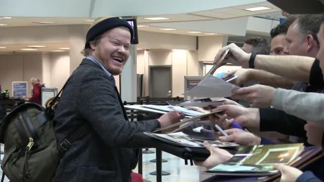 Jesse Plemons arrives at Salt Lake City Airport for the Sundance Film Festival on January 21 2016