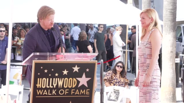 speech jesse plemons at kirsten dunst honored with a star on the hollywood walk of fame in los angeles ca - walk of fame stock videos & royalty-free footage