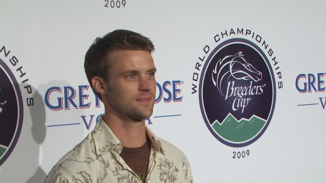 jesse spencer at the breeders' cup winners circle sponsored by grey goose vodka at los angeles ca - grey goose vodka stock videos & royalty-free footage