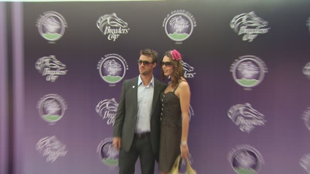 jesse spencer louise griffiths at the breeders' cup world thoroughbred championships at arcadia ca - championships stock videos & royalty-free footage