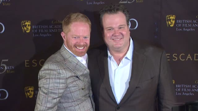 jesse tyler ferguson and eric stonestreet at bafta los angeles 18th annual awards season tea party on 1/14/2012 in beverly hills ca - tea party stock videos and b-roll footage