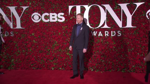Jesse Tyler Ferguson and guest at 2016 Tony Awards Red Carpet at The Beacon Theatre on June 12 2016 in New York City