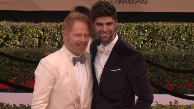 Jesse Tyler Ferguson and Justin Mikita at 23rd Annual Screen Actors Guild Awards Arrivals at The Shrine Expo Hall on January 29 2017 in Los Angeles...