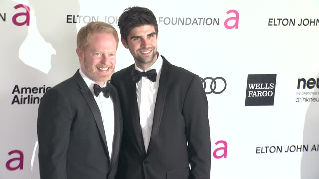 jesse tyler ferguson and justin mikita at elton john aids foundation celebrates 20th annual academy awards viewing party on 2/26/12 in hollywood ca - jesse tyler ferguson stock videos and b-roll footage