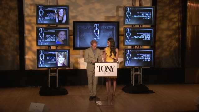 SPEECH Jesse Tyler Ferguson and Sutton Foster announce nominees for performance by an actor in a featured role in a play and actress in a featured...