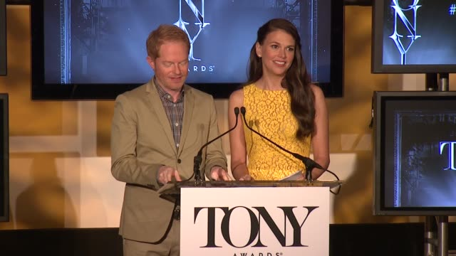 SPEECH Jesse Tyler Ferguson and Sutton Foster end the announcements by congratulating all the nominees and encouraging the audience to watch the...