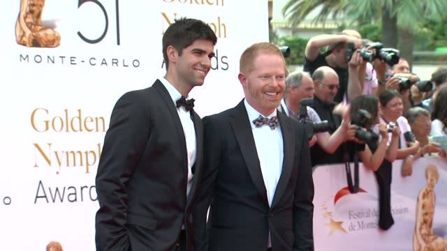 jesse tyler ferguson at the 51st montecarlo television festival 2011 golden nymph awards at montecarlo - jesse tyler ferguson stock videos and b-roll footage