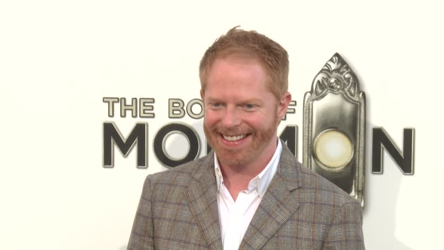 jesse tyler ferguson at the book of mormon los angeles opening night on 9/12/12 in los angeles ca - jesse tyler ferguson stock videos and b-roll footage