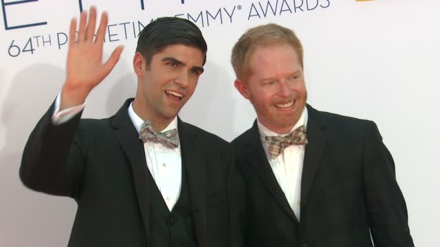 Jesse Tyler Ferguson Justin Mikita at 64th Primetime Emmy Awards Arrivals on 9/23/12 in Los Angeles CA