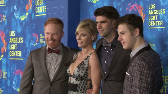Jesse Tyler Ferguson Justin Mikita Julie Bowen and Nolan Gould at the Los Angeles LGBT Center's 47th Anniversary Gala Vanguard Awards at Pacific...
